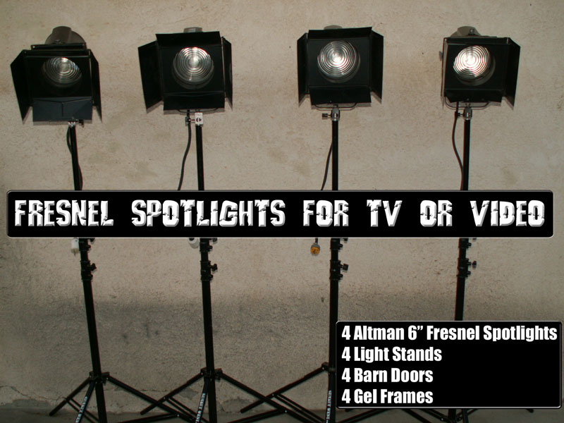Television, Movie or Video Lighting