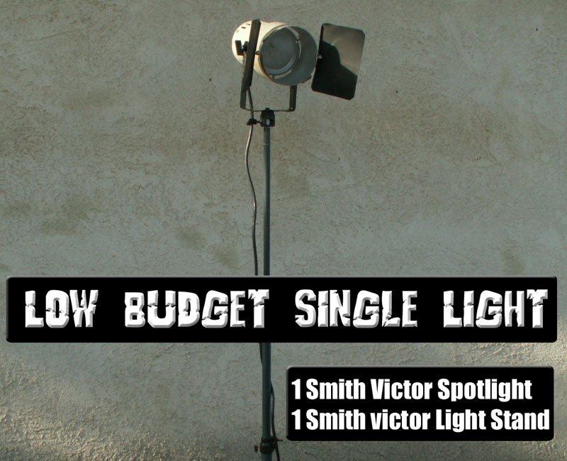 Smith Victor spotlight with diffuser screen and barn